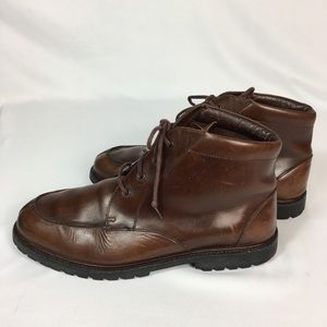 Eddie Bauer Men Brown Leather Size 12M Ankle Boots